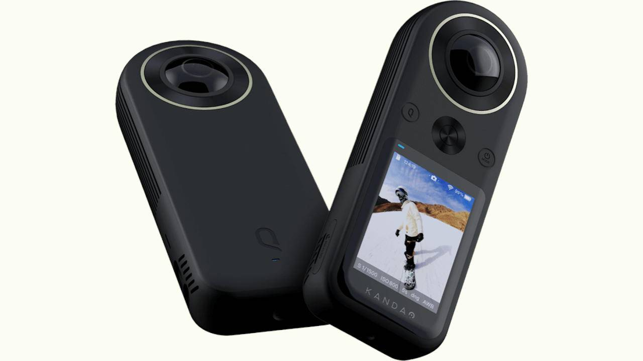 QooCam 8K 360 Camera is small enough to fit in your pocket