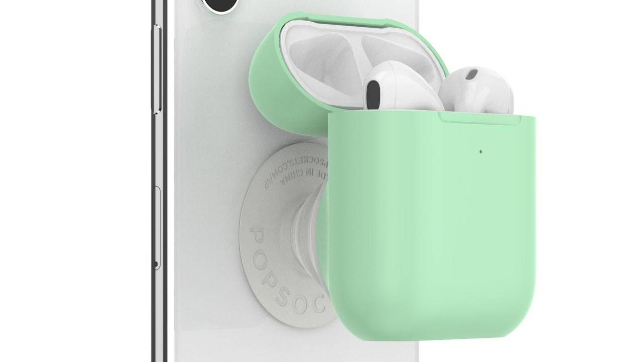 PopSockets PopGrip AirPods Holder gives the case a home behind an iPhone