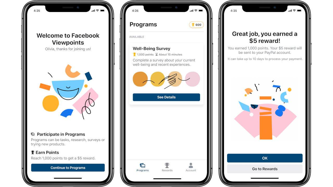 Facebook Viewpoints app will pay you for answering surveys