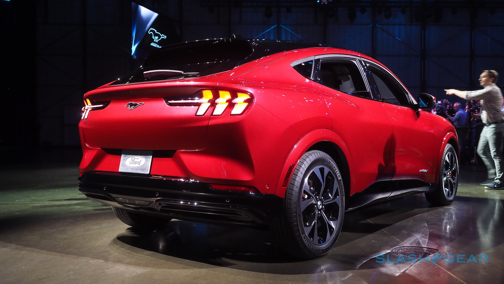 Ford Mustang Mach E First Look Electric Suv Takes On Tesla Slashgear