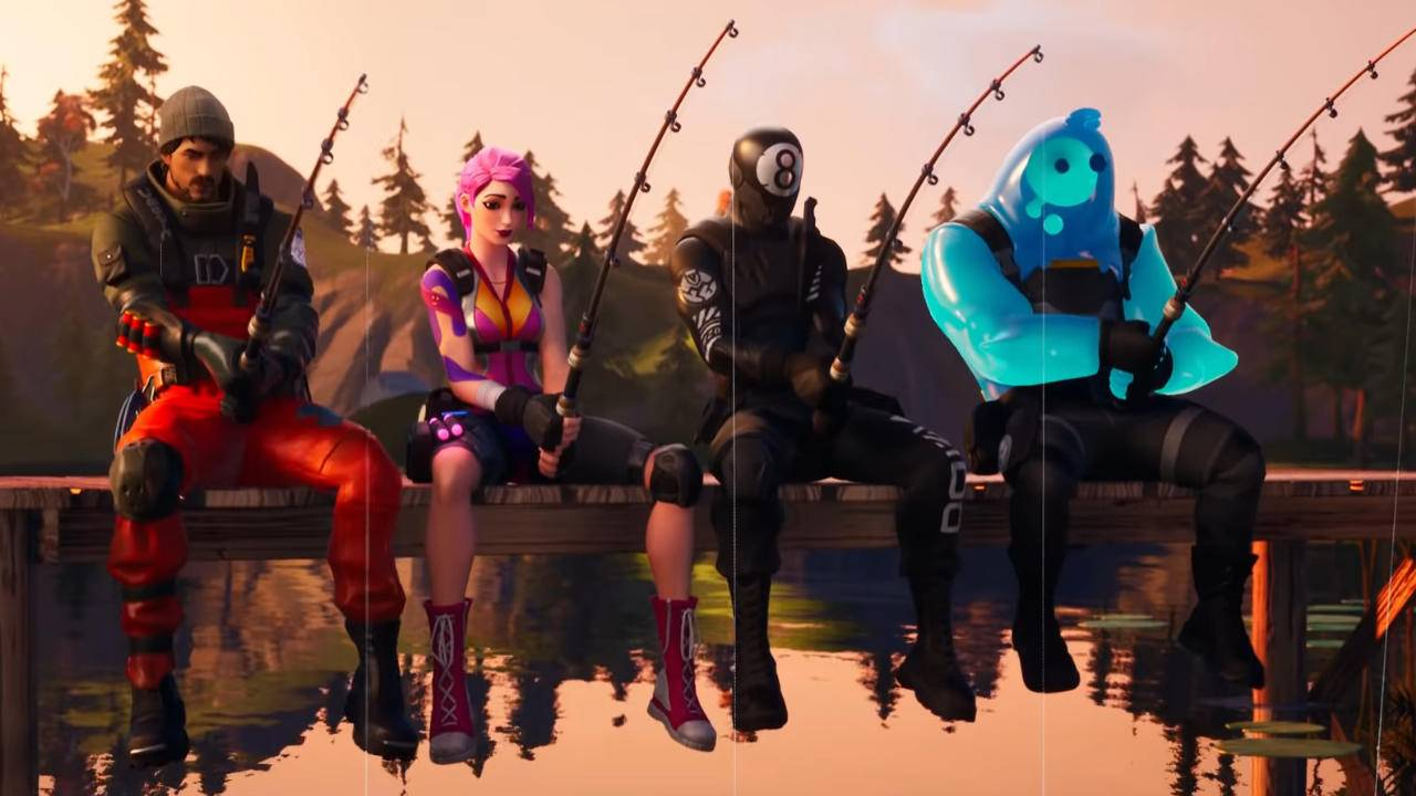 Fortnite players can now fish for items on the ground