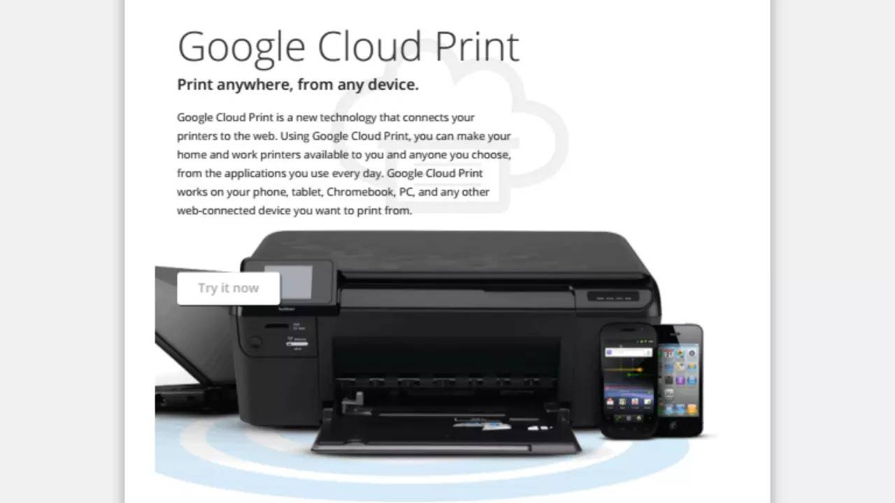 Google Cloud Print will join the graveyard by end of 2020