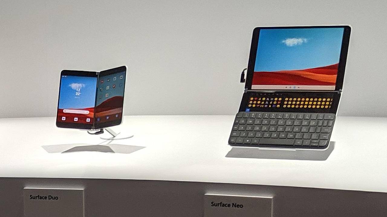 Surface Duo and Neo will support existing apps but only on one screen