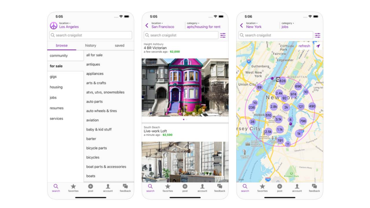 Craigslist finally launches mobile app and catches up to