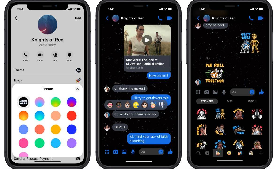 Facebook Messenger Gets Star Wars The Rise Of Skywalker