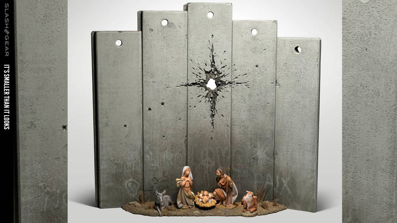 Banksy made hotel art for Christmas