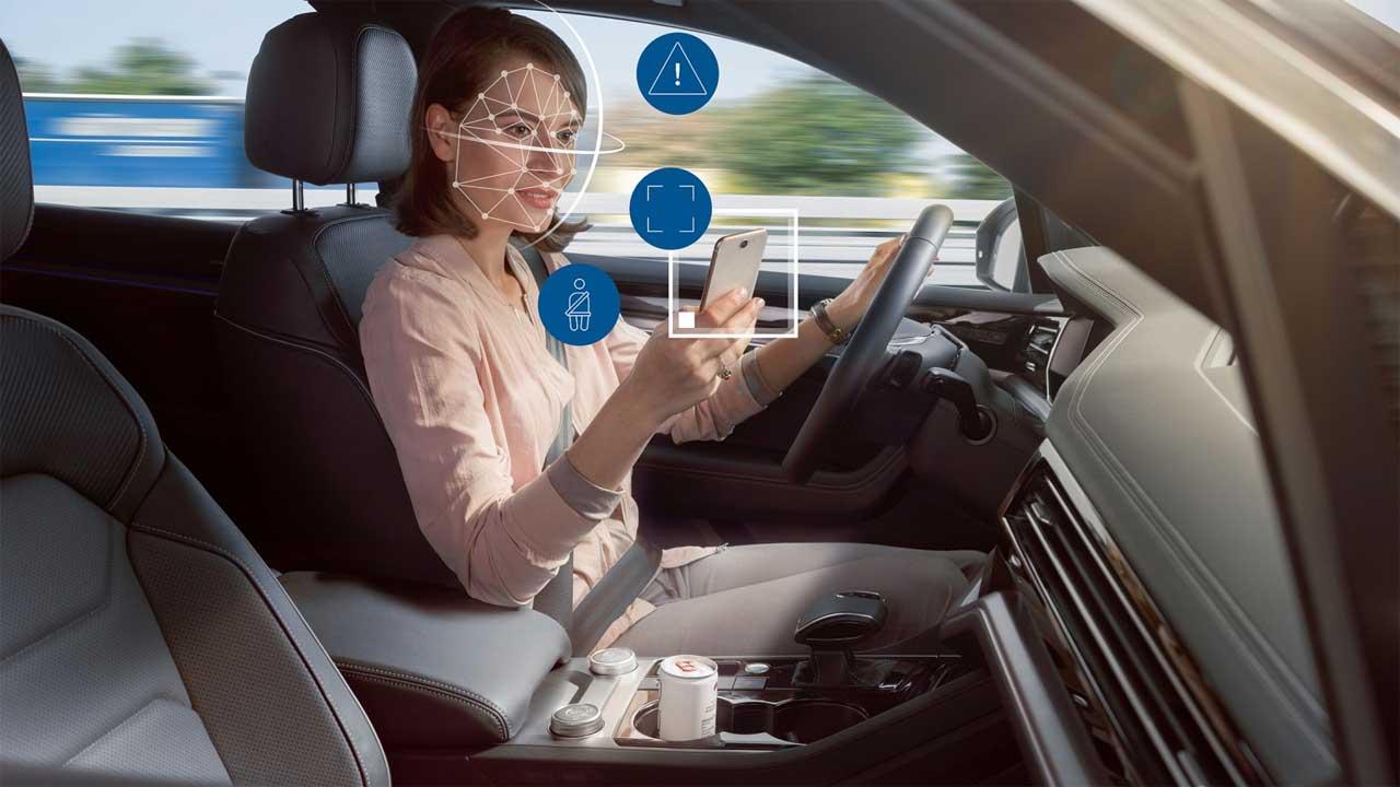 Bosch shows off a car passenger watching camera