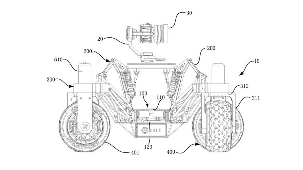 DJI patent reveals rugged remote control car with camera