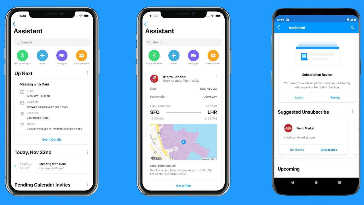 Edison Mail Assistant will make sure you won't miss meetings and flights