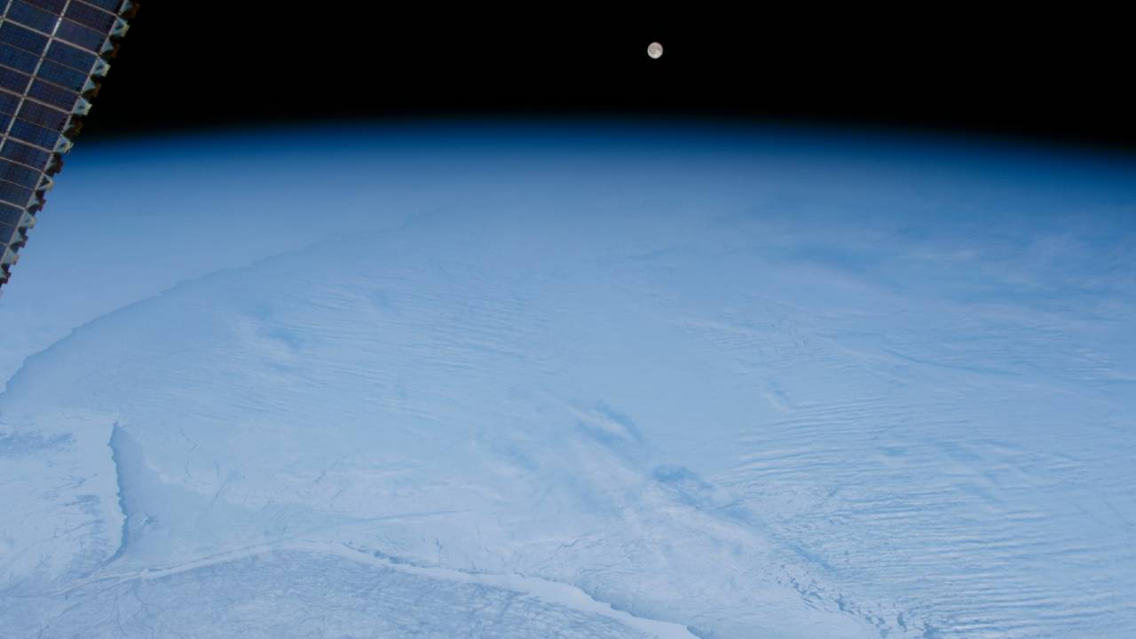 NASA shares frozen moonrise image snapped from space