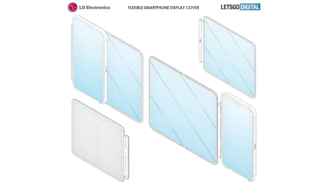 LG patents foldable screen smartphone case that looks more practical