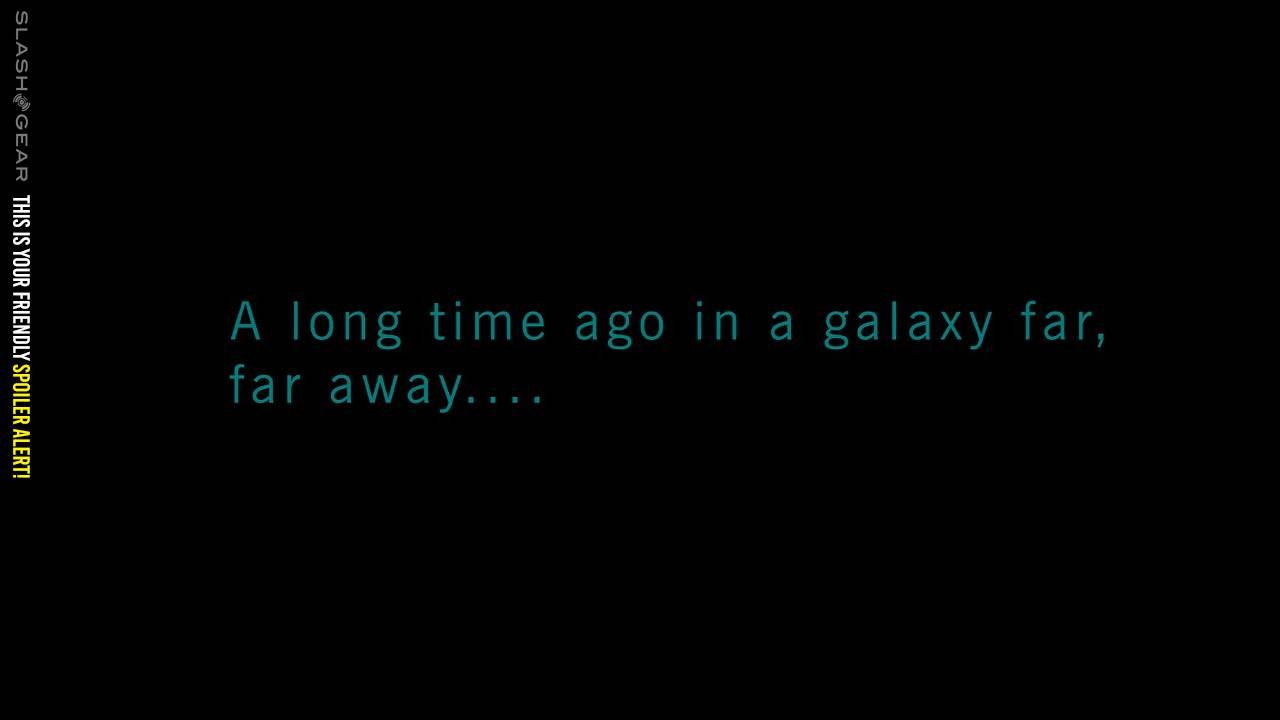 Star Wars: Rise of Skywalker opening crawl warning message revealed