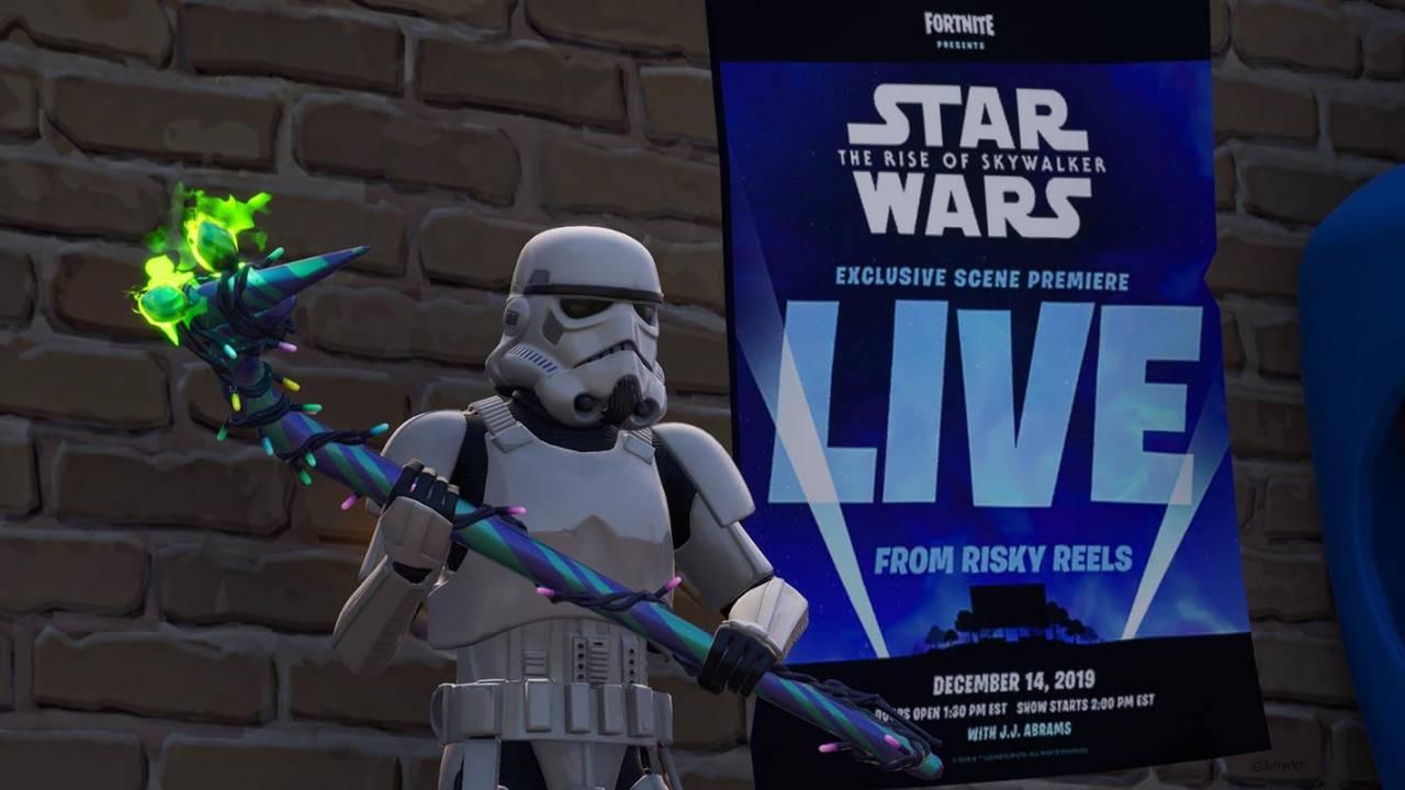 Fortnite's Risky Reels theater will show 'Rise of Skywalker' scene