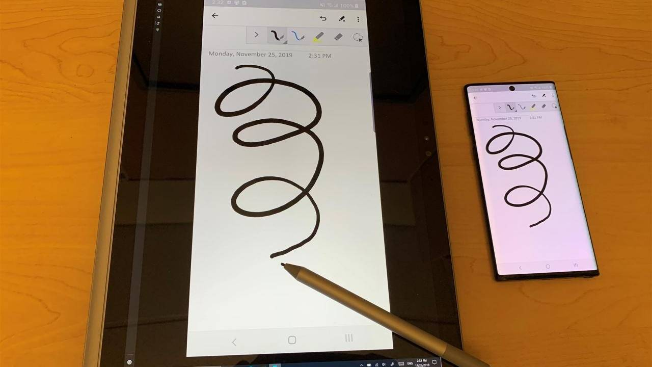 Windows 10 Your Phone turns tablet PC's into drawing tablets for phones