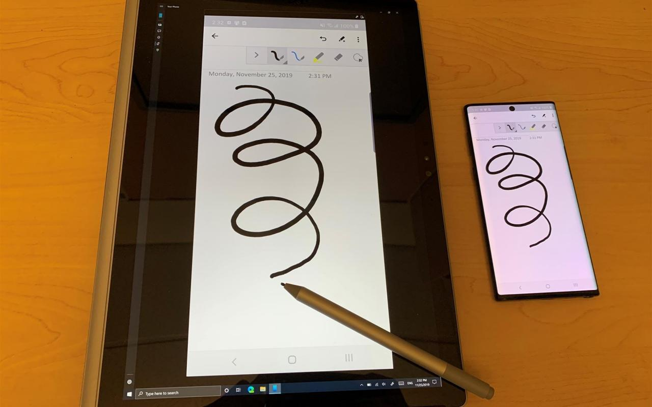 Windows 10 Your Phone Turns Tablet Pc S Into Drawing Tablets For Phones Slashgear