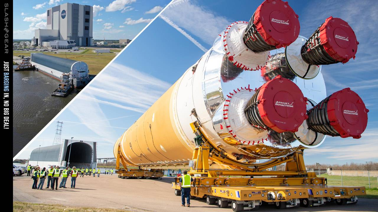 NASA Artemis rocket takes same ferry trip as Apollo 11