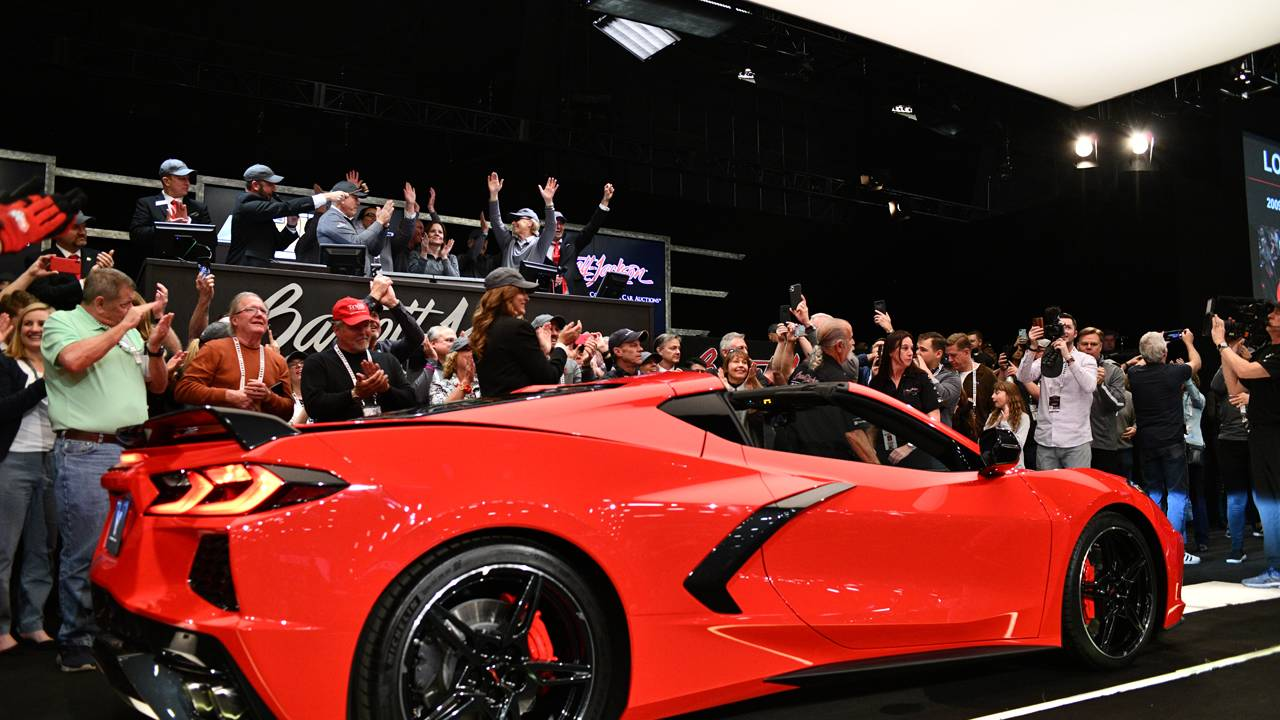 2020 Corvette VIN 0001 raises $3 million for charity