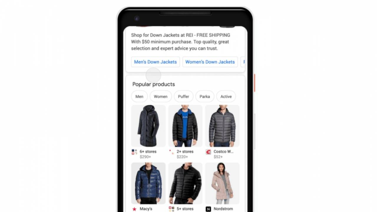 Google Search makes it easier to find and buy clothes on mobile