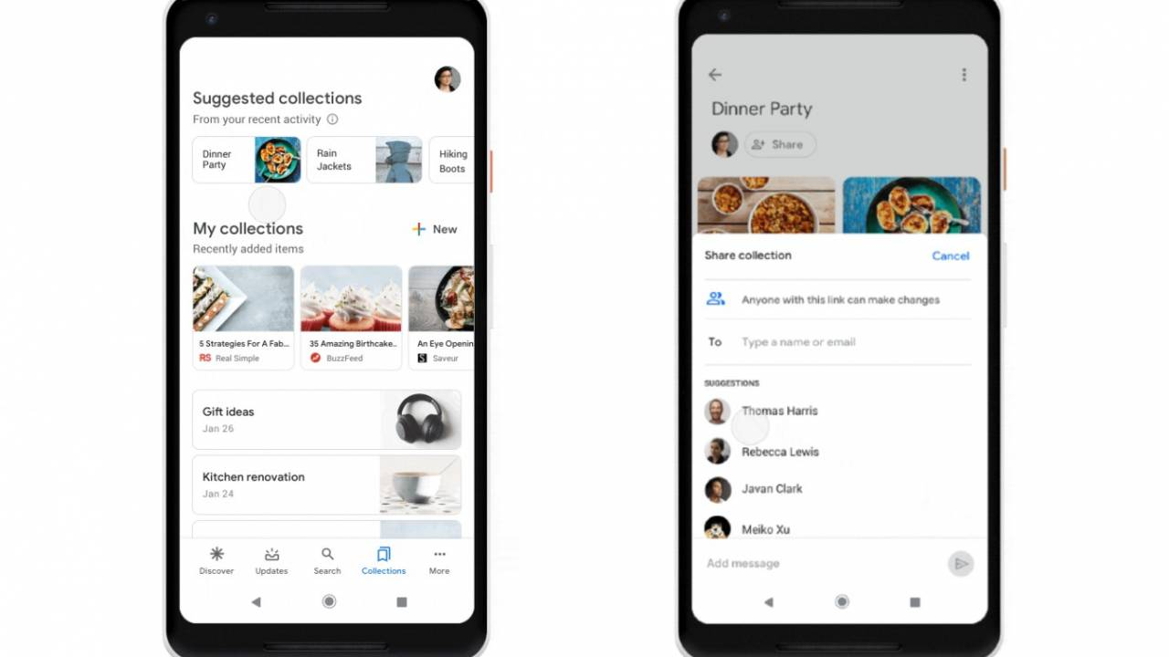 Google Collections tweaks make it easier to find and share content
