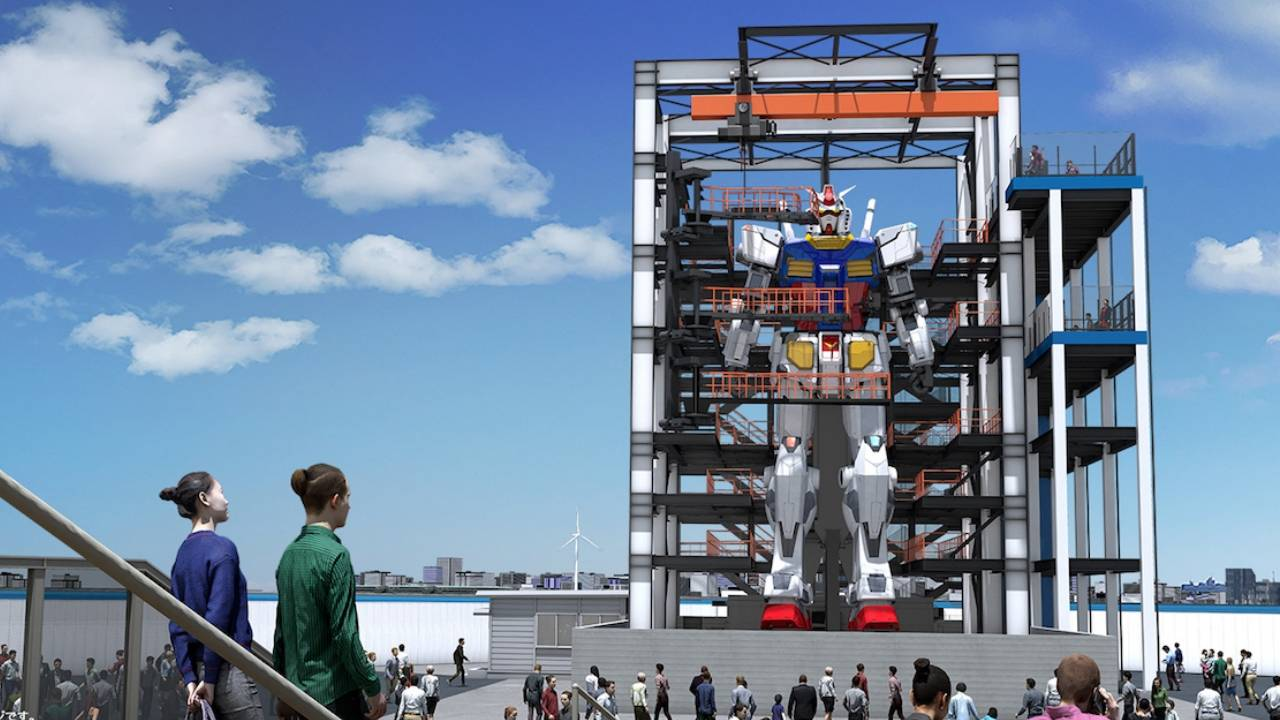 60-foot Gundam robot that walks is being built in Japan