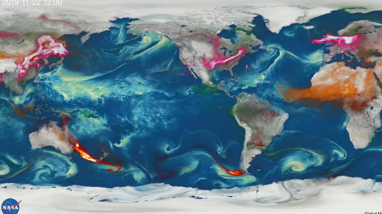 NASA video shows the global spread of Australia's wildfire smoke