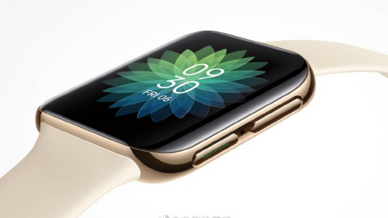 OPPO smartwatch with a square face, curved edges teased by company VP