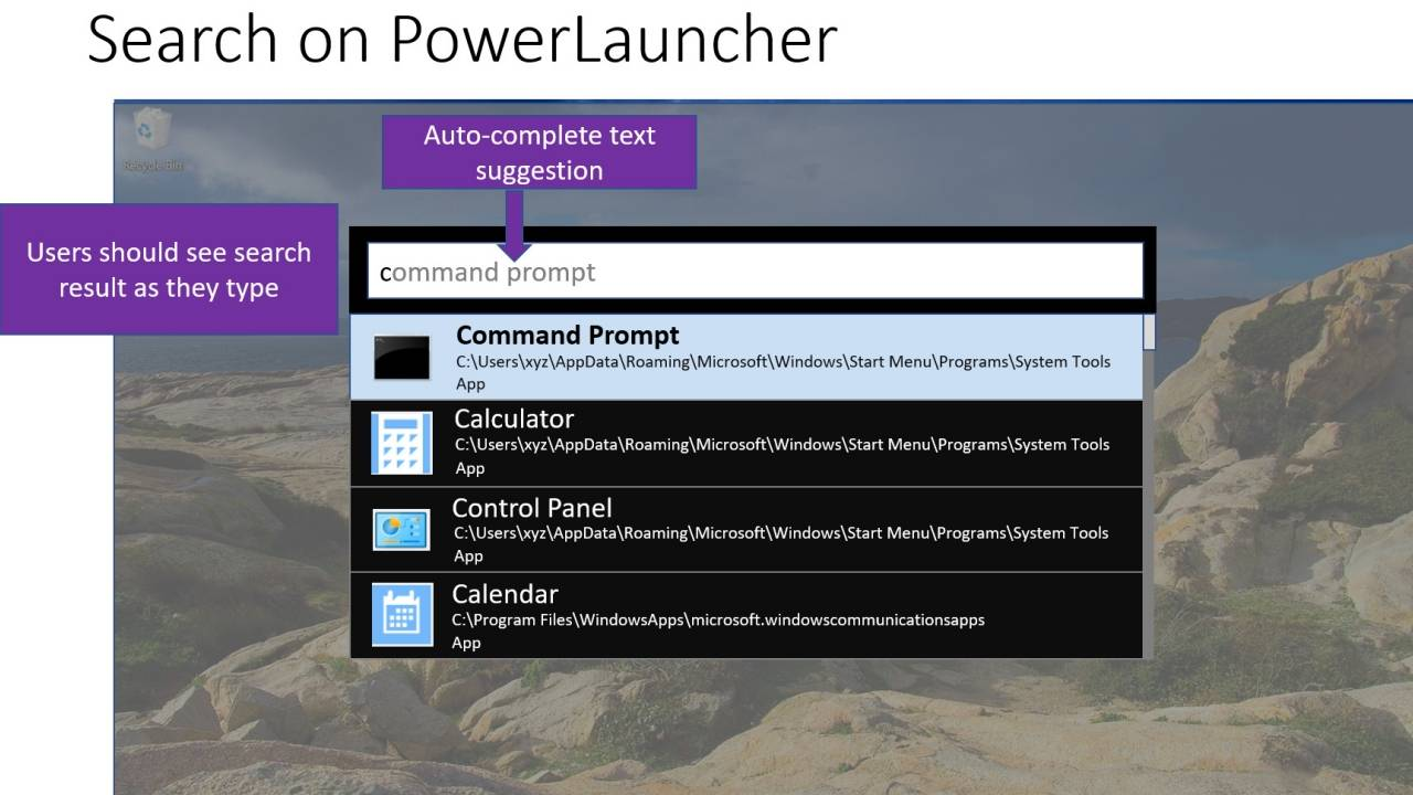 Windows 10 PowerLauncher will put Search and Run front and center