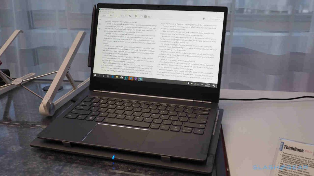Lenovo ThinkBook Plus packs a 10-inch e-ink display in the lid
