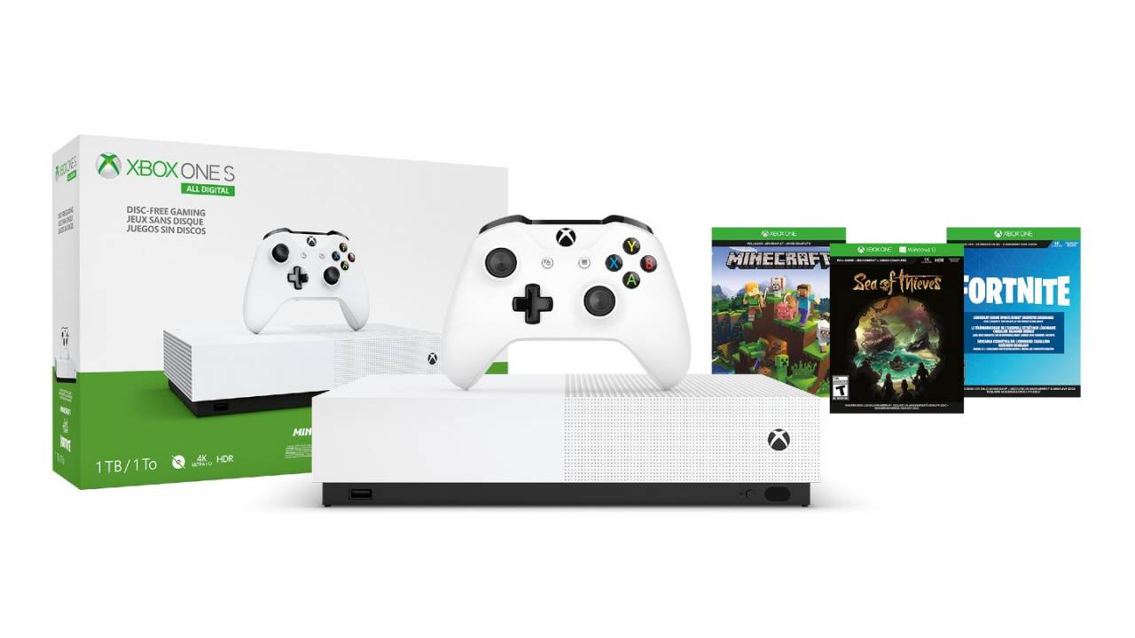Walmart bundles Xbox One S with Minecraft, V-Bucks, Xbox Live Gold
