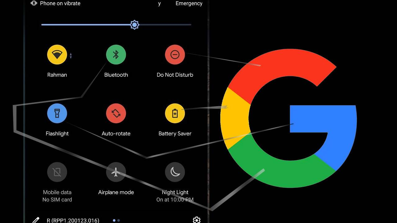 Android 11 Quick Settings icons get colorful in red, green, blue, and yellow