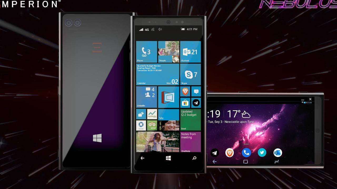 Emperion Nebulus phone runs Android, Windows 10 on ARM if you believe it
