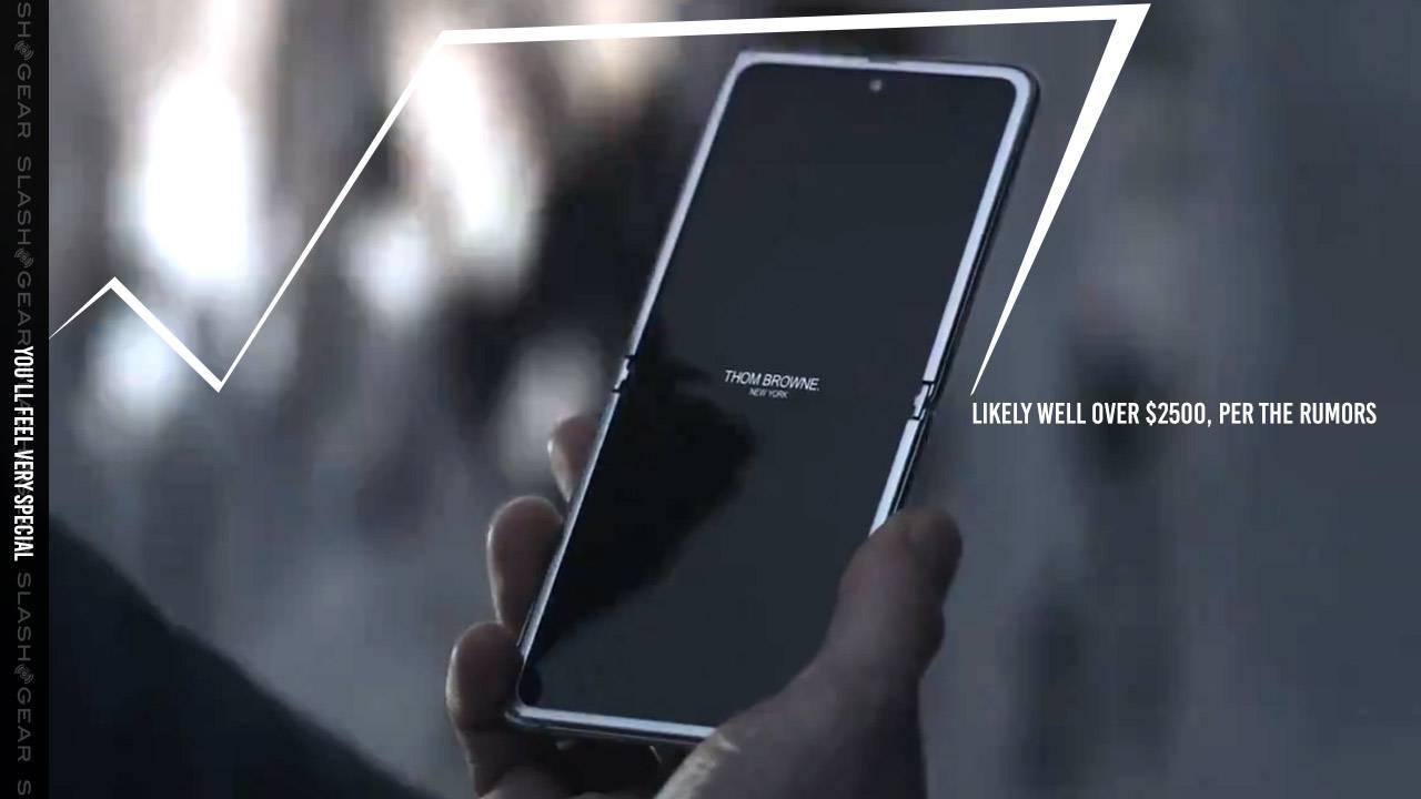 Samsung Galaxy Z Flip Thom Browne edition leaked