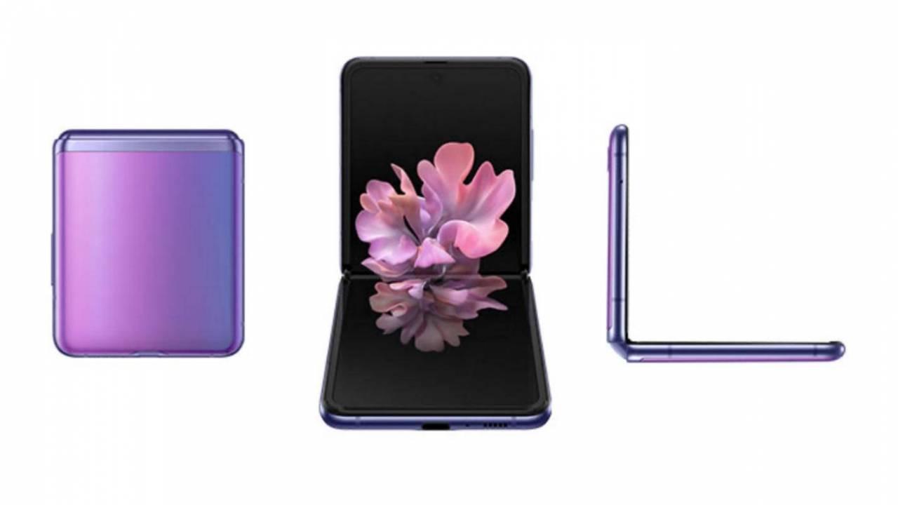 Galaxy Z Flip folding smartphone appears in hands-on video