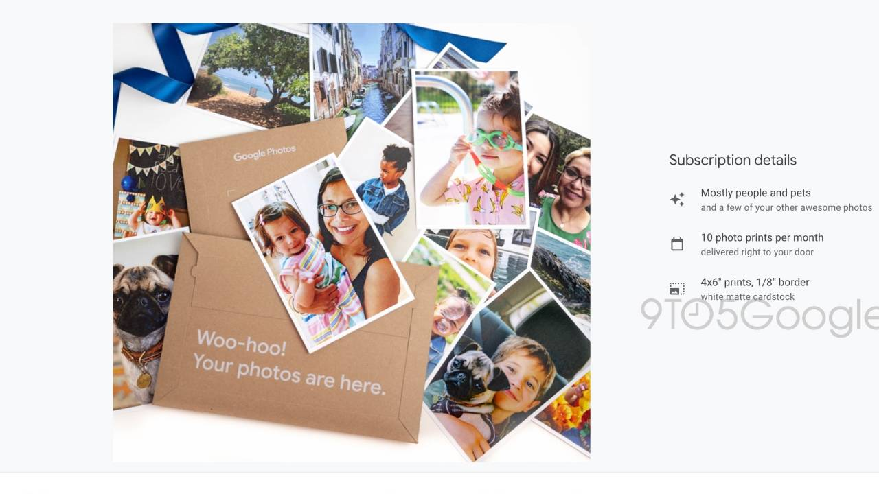 Google Photos will send you 10 photo prints monthly for a fee
