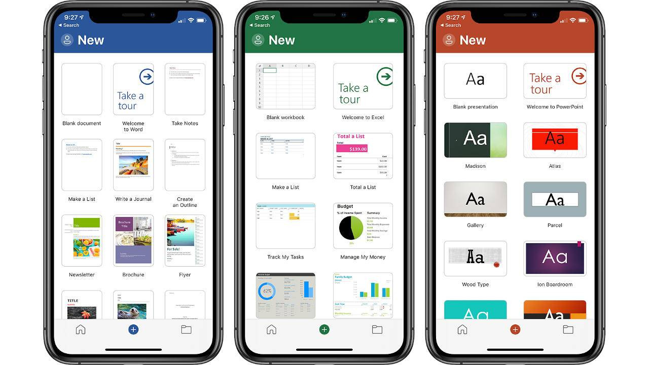 Microsoft Word, Excel, PowerPoint on iOS get a minor facelift