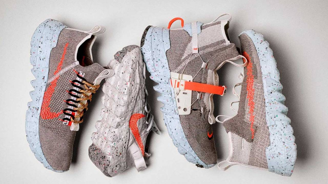 Nike Space Hippie shoes are made from fabric and foam scraps