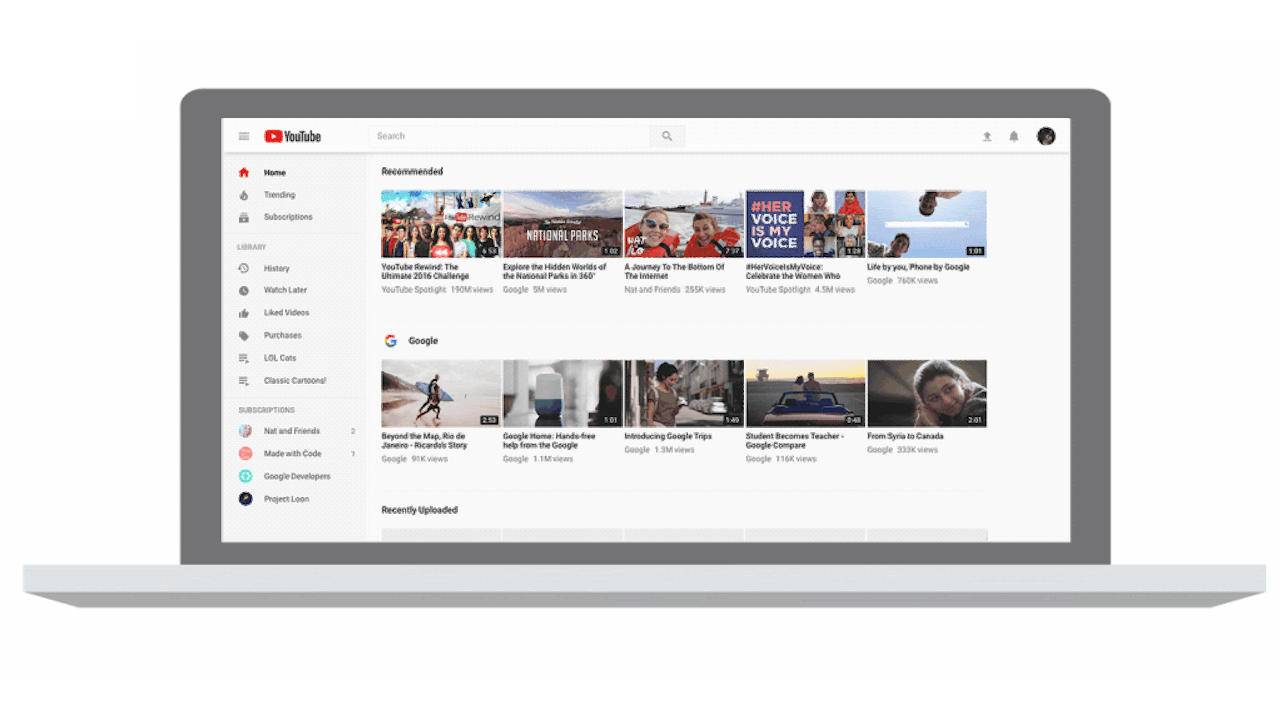 YouTube's old desktop UI design is going away for real next month