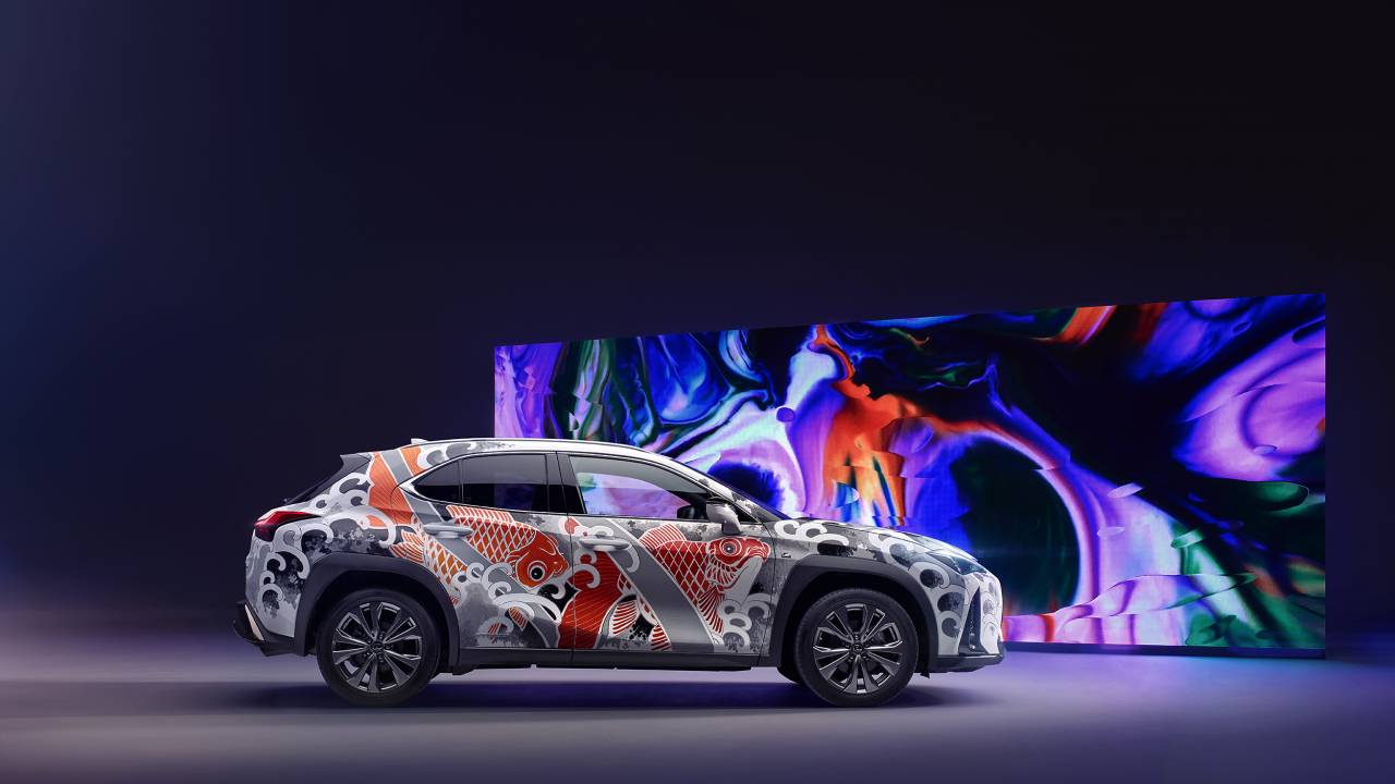 This Lexus UX is brandishing a new tattoo