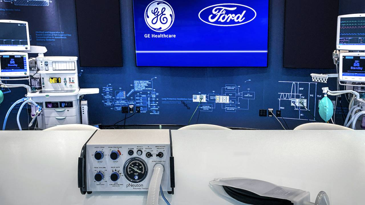 Ford and GE team up to build 50,000 ventilators by July 4