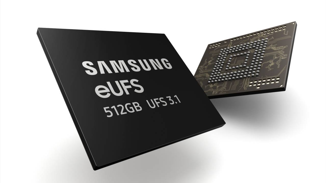 Samsung 512GB eUFS 3.1 storage for phones are now being mass-produced