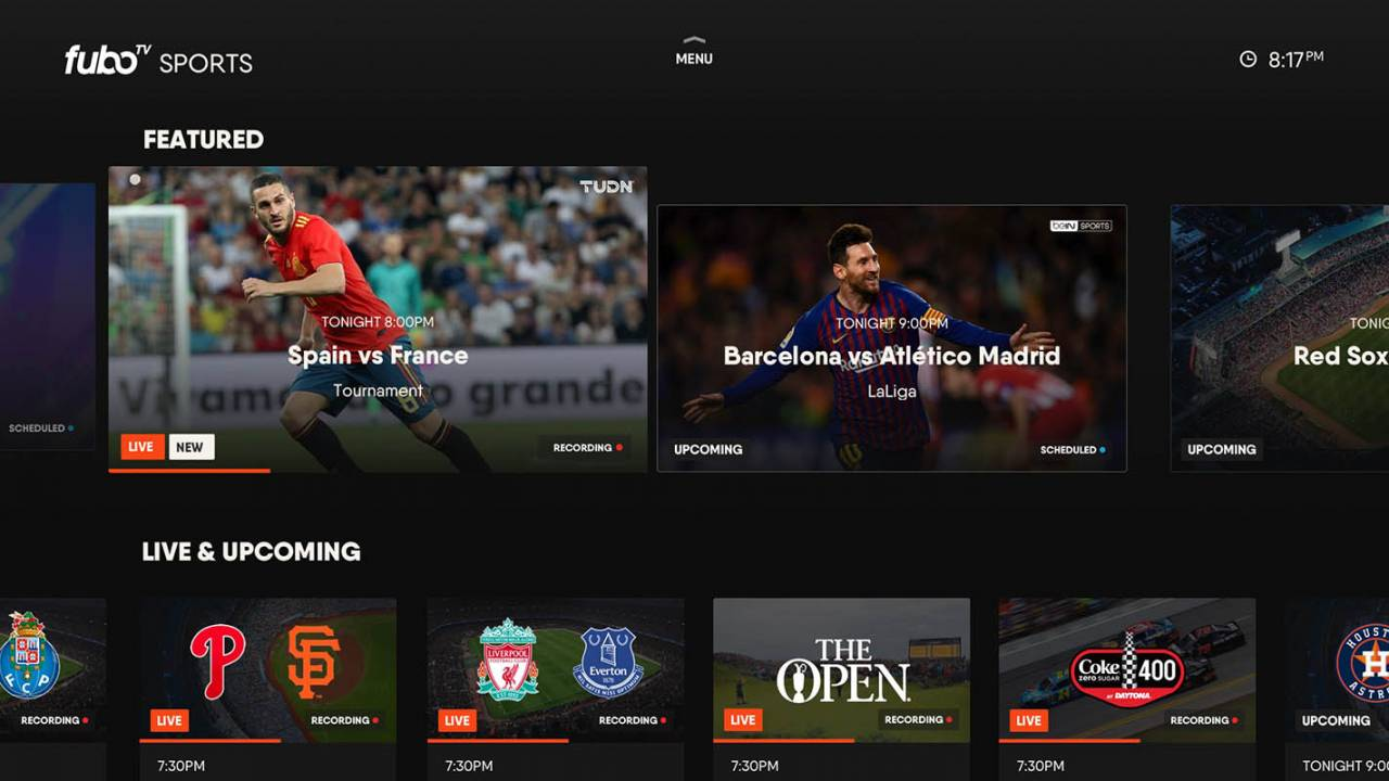 fuboTV's live sports options now include MLB and NHL Network