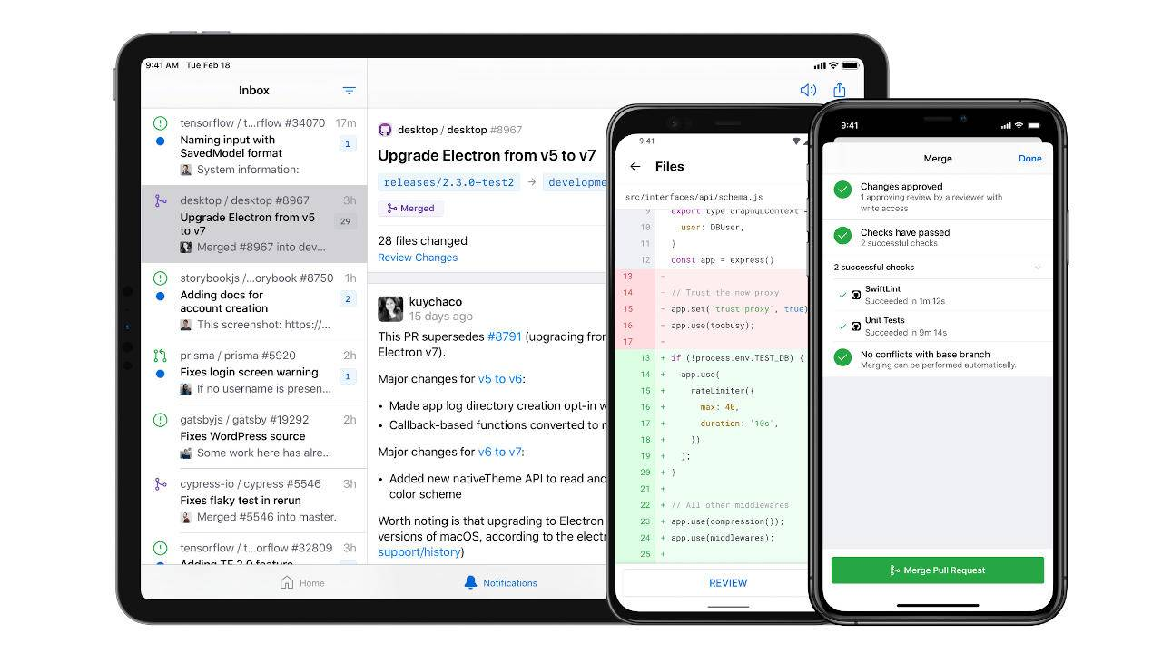 GitHub Android and iOS apps arrive just in time
