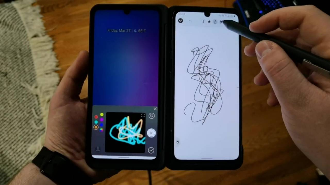 LG V60 ThinQ 5G and its Dual Screen apparently work with Active Styluses