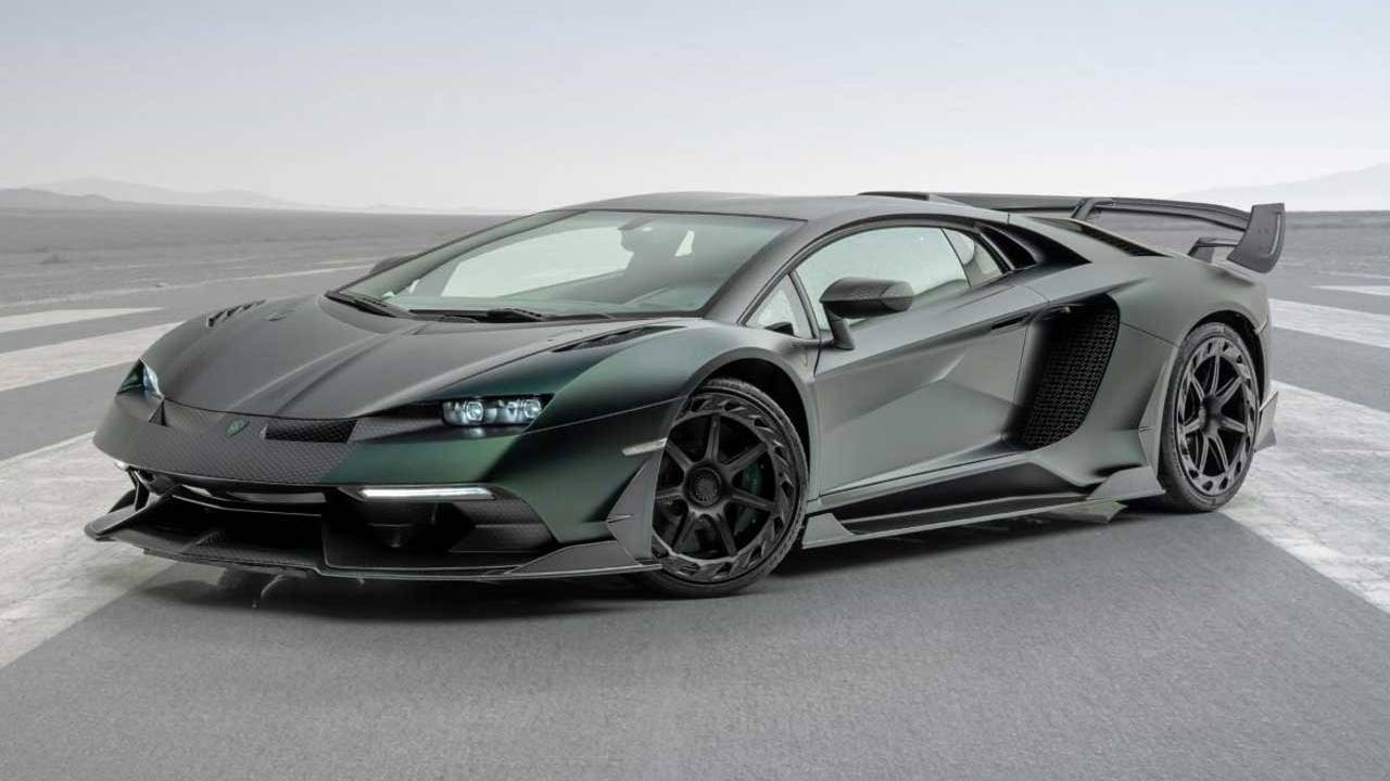 Mansory Cabrera is a hopped up Lamborghini Aventador SVJ