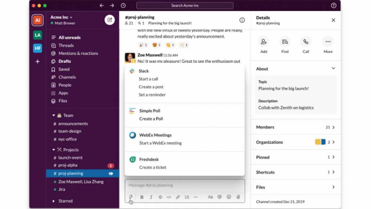 Slack is rolling out a simpler redesigned UI with new features