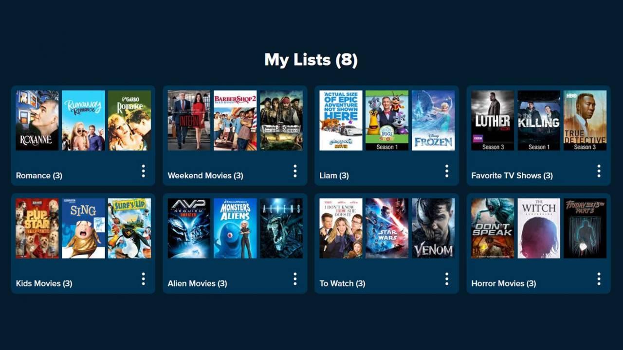 Vudu digital movie platform adds useful new Lists feature