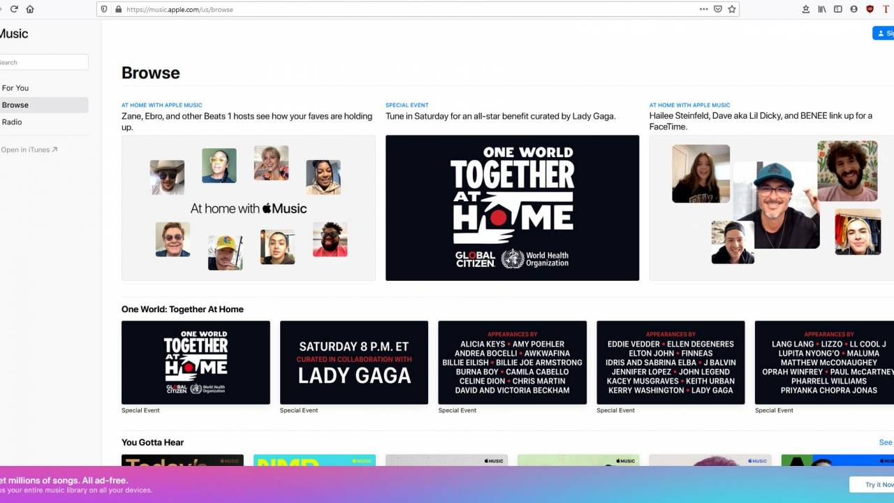 Apple Music web player finally moves out of beta