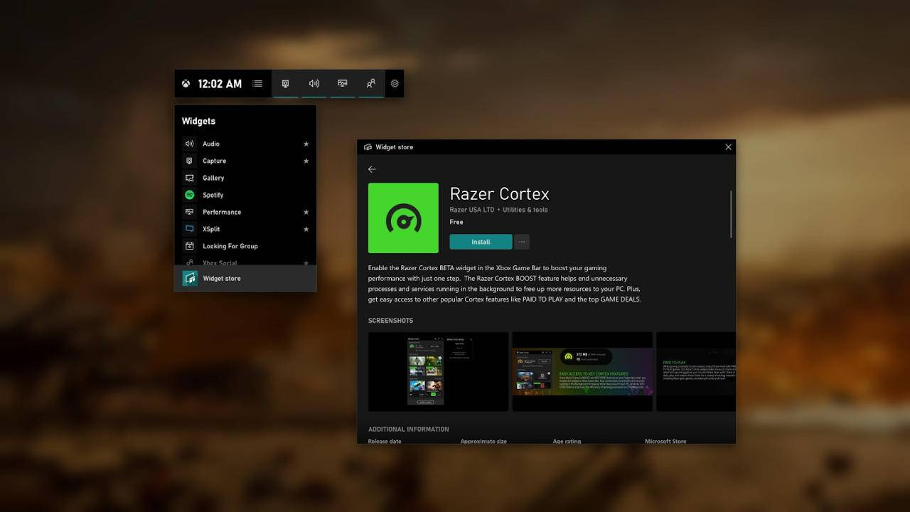 Xbox Game Bar overlay widgets keep you switching away from your PC game