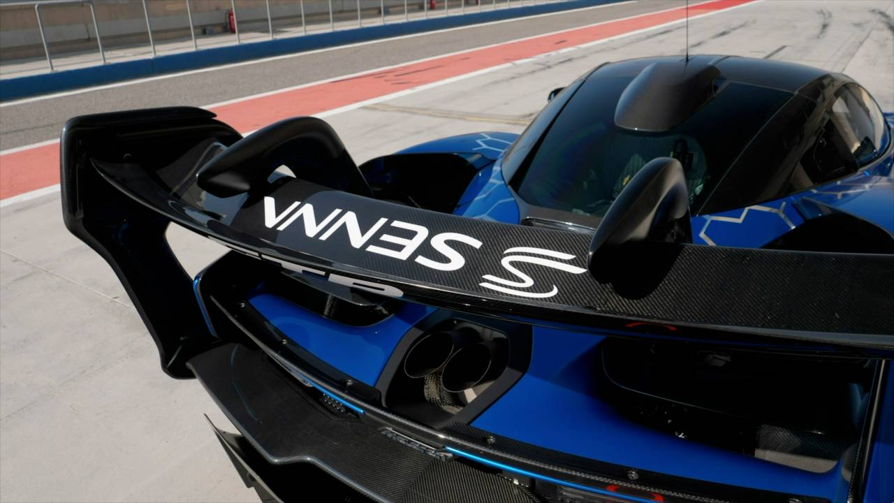 The McLaren Senna GTR's massive rear wing serves a valid purpose