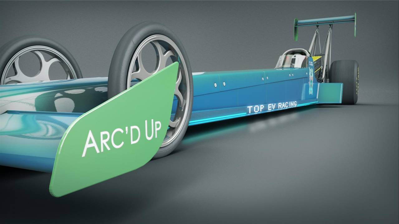 Top EV Racing & HyperPower's electric dragster is the future of drag racing